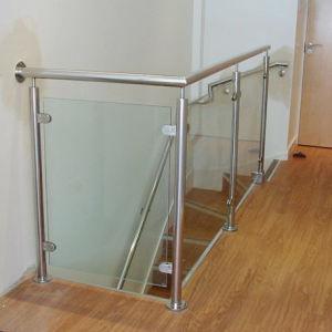 foshan best glass railing balcony stainless steel railing design hr1371b - Best Glass