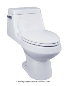 One Piece Toilet Siphonic Toilet Water Closet Wc 8813