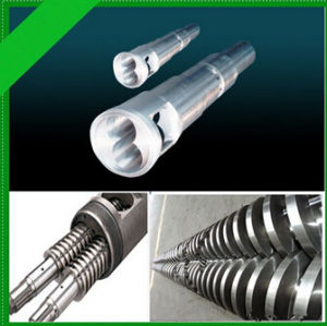 Bimetal Single Extruder Screw and Barrel for Plastic HDPE/LDPE Machinery Parts