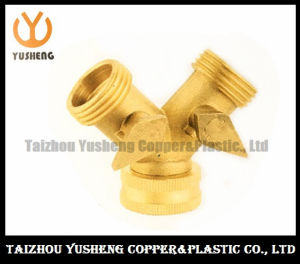 Trifurcate Brass Ball Valve with Brass Handle (YS1028)