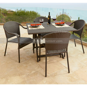 Mtc-232 Outdoor Rattan Patio Dining Set Folded Table
