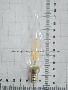 LED Filament Lamp C35X 2W E14/E27/B22