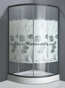 Tempered Glass Shower Room with Fish Design (E-01 fish design) pictures & photos
