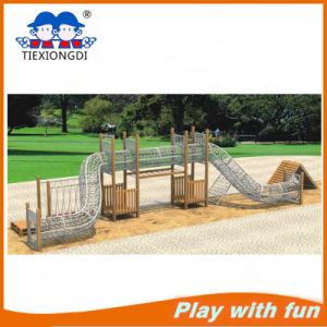 New Design Wooden Climbing and Swing Children Playground System pictures & photos