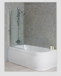 Luxury Left Handed Shower Bath with Straight Bath Screen pictures & photos