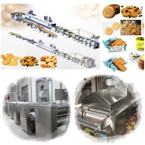 Stainless Steel Full Automatic Center Filling Biscuit Making Machine pictures & photos