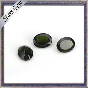 Wuzhou Factory Price Oval Natural Cut Natural Diopside pictures & photos