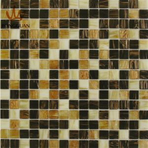Mix Color Glass Mosaic Tile Gold and Brown Color (MC203) pictures & photos