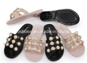 6ca3b785d China 2018 Design Jelly Plastic Slipper Sandals with Zircon Bead ...