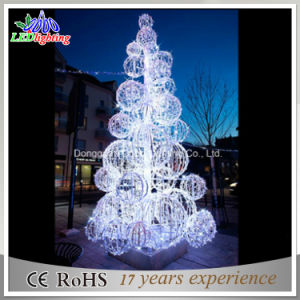commercial outdoor christmas decoration led 3d motif sculpture ball tree light