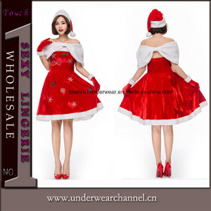 New Cheap Adult Sexy Santa Christmas Costume (TDD80760) pictures & photos