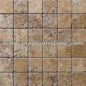 Noce Travertine Mosaic Tile Pbs 7063