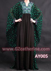 Latest Fashion Beading Bat Sleeves Maxi Dubai Abaya Dresses