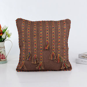 Decorative Hand-Sewing Tape Fashion Pillow (LPL-194) pictures & photos
