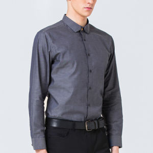 New Model Custom Mens Slim Fit Casual Dress Shirt pictures & photos