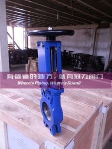 Non Rising Stem Manual Knife Gate Valve pictures & photos