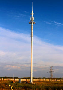 GSM Telecom Galvanized Steel Monopole Tower pictures & photos
