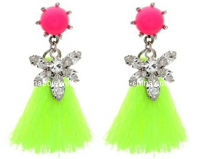 Fashion Shou*Rouk Style Diamond with Tassel Earring (XER13042)
