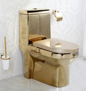 toilet made of gold. Bathroom Ceramic Sanitary Ware One Piece Gold Plated Toilet China