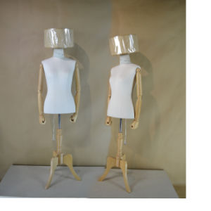Fabric Wrapped Female Torso Mannequin with Wooden Arm pictures & photos
