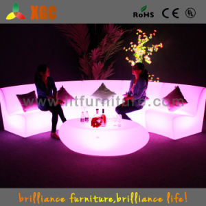 Outdoor Hotelfurniture Led Chair Sofa Light Up