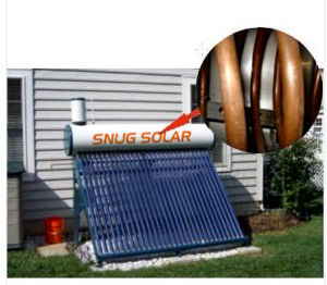 Compact Pre-Heating Copper Coil Flow Solar Water Heater pictures & photos