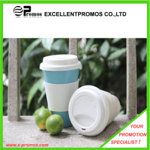 Logo Customized Bamboo Fiber Mug with Silicone Lid (EP-M9041) pictures & photos