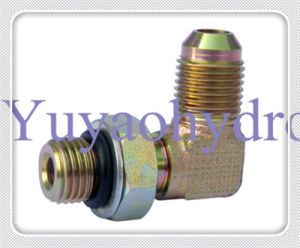 Hydraulic Fittings Jic 37 Deg Flared Tube Connector pictures & photos