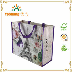 Custom Bag Promotional PP Woven Bag with Paris Eiffel Tower Lamination Printing pictures & photos