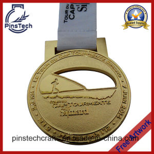 Tournament Gold Medal, 2D Cut out Sports Medal