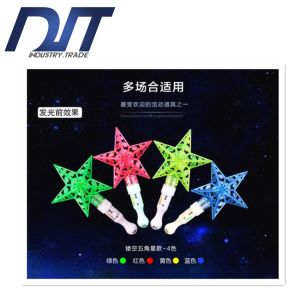 Five-Pointed Stars Flashing Rainbow Stick Lights for Concert