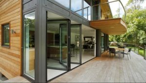 Top Hanging System Patio Aluminum Doors pictures & photos