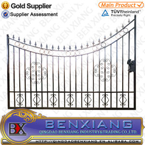 Black Power Coating Iron Main Gates pictures & photos