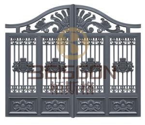 Beautiful Decoration Galvanized Wrought Iron House Steel Gate