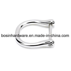 Zinc Alloy D Ring with Screw Bar