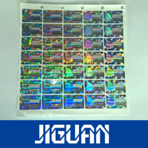 3D Gold Color Custom Design Holographic Stickers Sheets pictures & photos