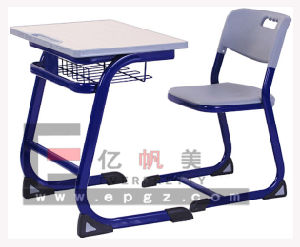 Plastic Single Desk and Chair of Student School Furniture pictures & photos