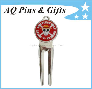 Hard Enamel Golf Divot Tool in High Quality (Golf-14) pictures & photos