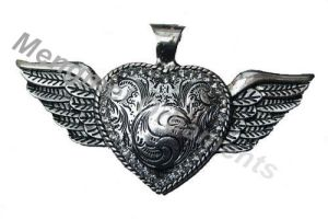Heart Angle Wing Necklace Pendant (PD0035)