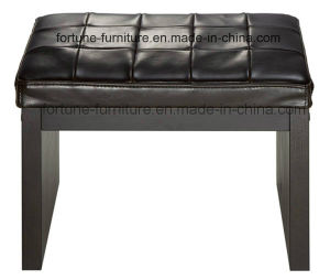 Modern Leather Upholstered Wooden Dresser Stool (I&D-10316)