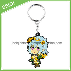 Manufacturer Customized Reflect PVC Keychain with Different Shape pictures & photos