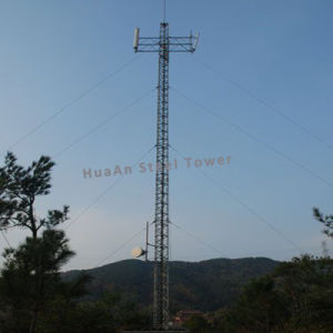 Guyed Wire Line Communication Signal Steel Metallic Latticed Tower