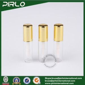 1ml 1g Mini Plastic Lipstick Tube for Lipstick Lip Balm Sampler Lipstick Tube with Brush and Gold Cap pictures & photos