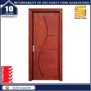 Fancy Solid Teak Wood Veneer Interior Wooden MDF Fireproof Door