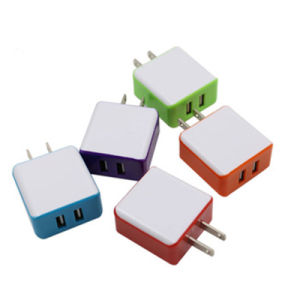 EU/Au/UK/Us Plug 5V 2A 2 USB Mobile Phone Wall Charger for iPhone Samsung Huawei LG HTC Cell Phone Charger pictures & photos