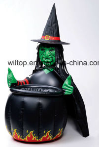 halloween inflatable witch cauldron cooler pm043
