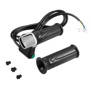 Handlebar Throttle Grip Waterproof LCD Display Electric Cars Bike Scooter 36/48V