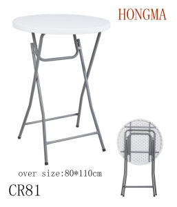 Cr81 Tall Plastic Folding Table Bar Used Outdoor Used