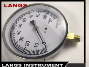 074 115mm Project Stainless Steel Case Pressure Gauge pictures & photos