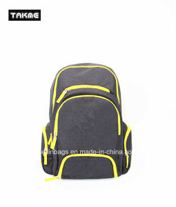 Contrast Color Laptop School Bag